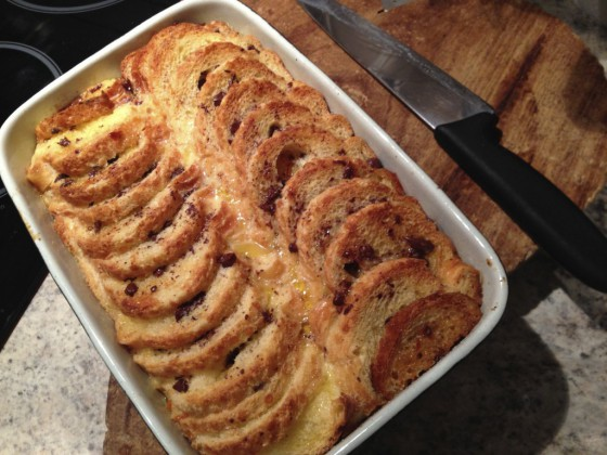 Chocolate Orange Baguette & Butter Pudding